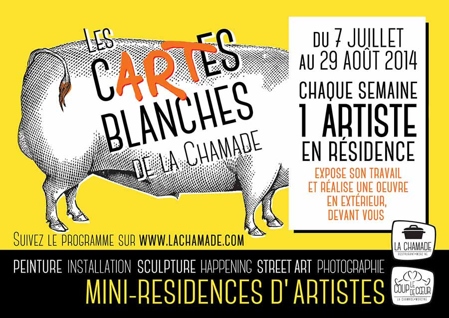 Cartes Blanches La Chamade